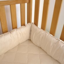 "Organic 8"" Wool Crib Bumper or Insert"
