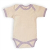 Lavender Trim Organic Short Sleeve Bodysuit